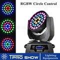 36x10 Вт движущаяся головка Zoom RGBW 4в1 Lyre Wash MovingHead DJ освещение LED Ring Control Dmx 512 звуковые лампы для вечеринок Flycase/картонная коробка