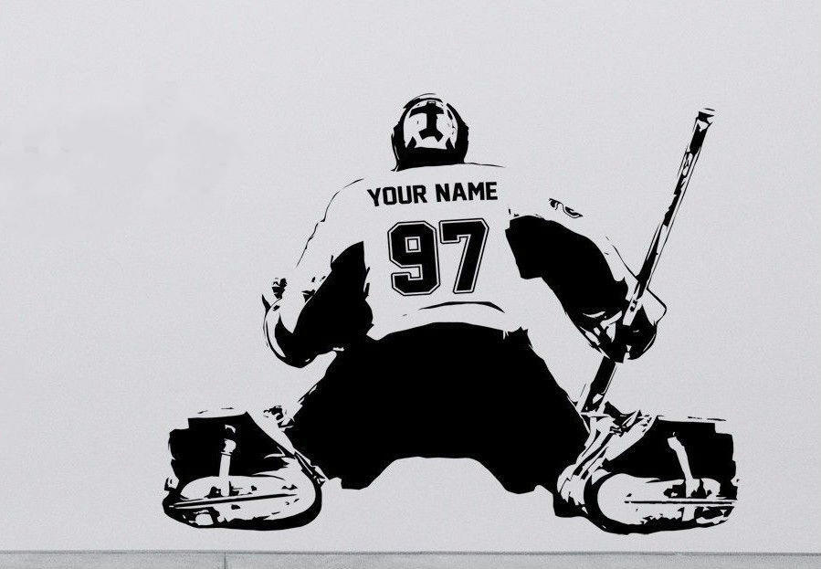 s009 Hockey Goalie CUSTOM Decal Wall art sticker Player jersey - Διακόσμηση σπιτιού
