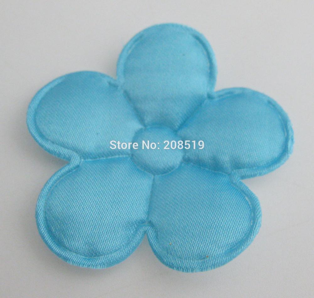 PANVGG 47 мм Цветочные аппликации 12 видов цветов DIY Скрапбукинг Цветочные нашивки 120 шт. головные уборы цветочный орнамент войлочный - Цвет: lake blue 47mm