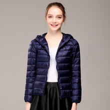 купить New 2019 Women Winter Coat  Autumn Korean Hooded Women's Down Jackets Slim 90% White Duck Down Female Coat Chaqueta Mujer дешево