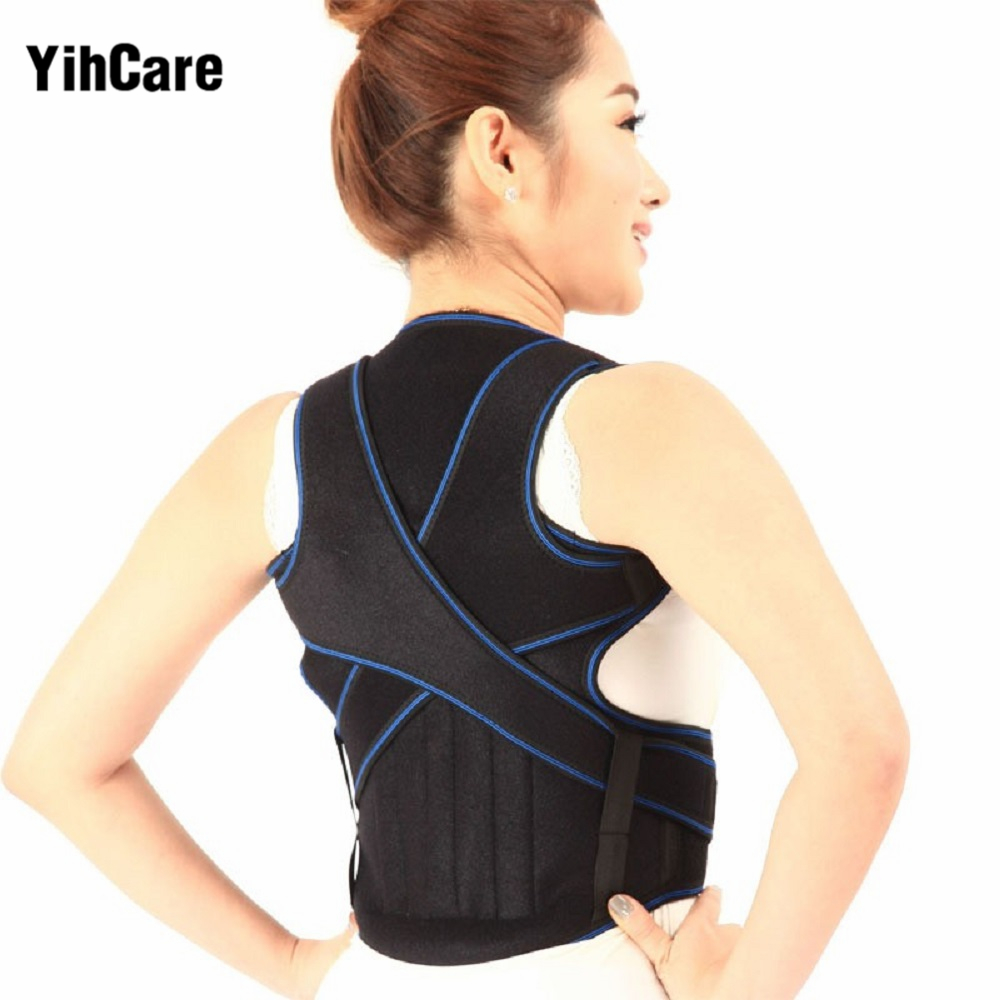 Adult Back Corset Posture Corrector Back Shoulder Lumbar Braces Spine Support Belt Posture Correction Back Support For Men Women men women adjustable posture corrector belt braces support body back corrector shoulder health care 611