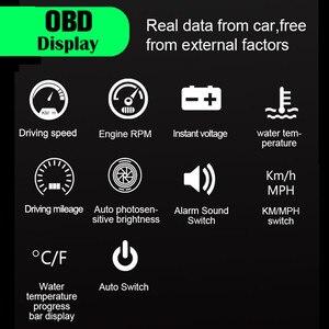 Image 2 - GEYIREN hud obd head up display OBD2 + GPS Dual System M7 head up display gps Überdrehzahl auto kopf display up obd2 hud display auto