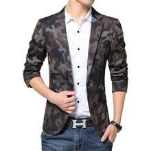 Hot 2016 spring autumn casual Blazer men tidal current Camouflage male slim fit denim suit single