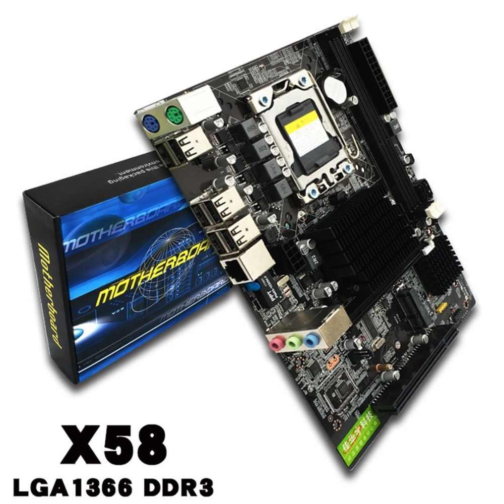 X58 материнская плата USB3.0 X58 LGA1366 памяти USB2.0 24/7 материнская плата для Ксеон X5670 X5650 DDR3 2 канала испытания перед отгрузкой