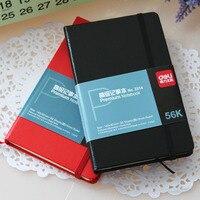 Deli 3314 кожаная карманная записная книжка 56k  чехол из искусственной кожи  записная книжка  карманный ноутбук премиум-класса