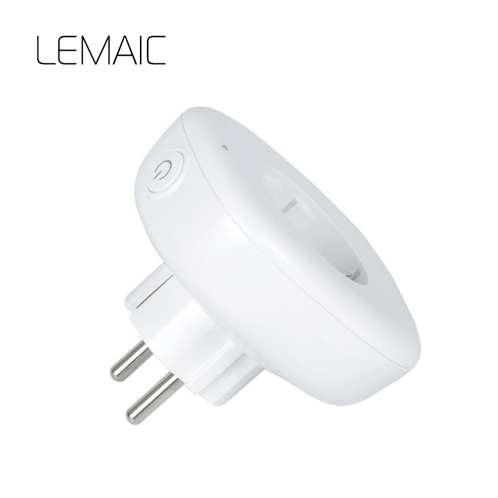 LEMAIC WiFi Smart Plug EU Socket Plug Outlet Smart Remote Wireless APP Controls Home Automation Outlet for iphone Ipad Android