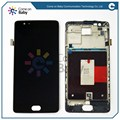 black For one plus 3 three oneplus 3 A3000 1+3 LCD display Touch Screen with Digitizer full assembly with frame repair parts