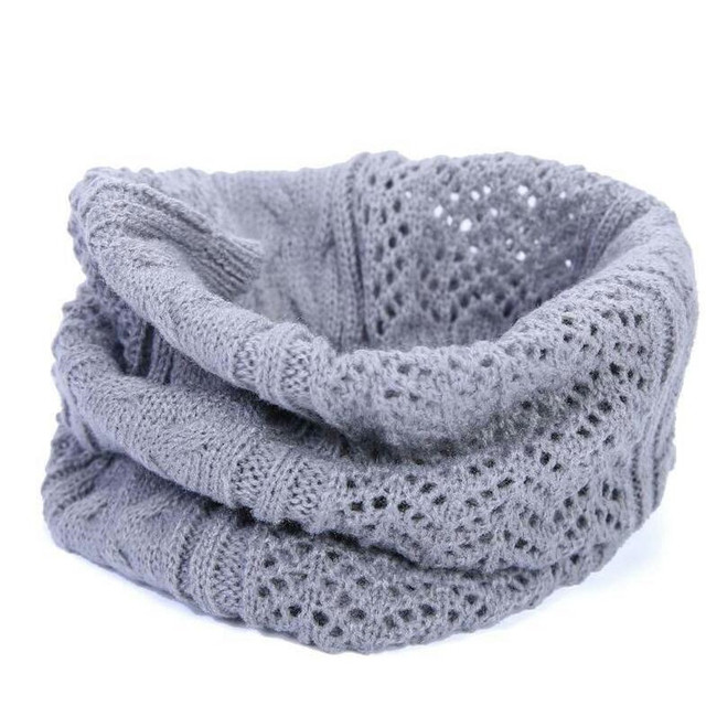 Fashion Women Men Neck Crochet Scarf Brand Warm Autumn Winter Hollow