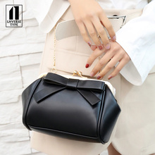Elegant chic bow shoulder slung chain bag women bag over sho