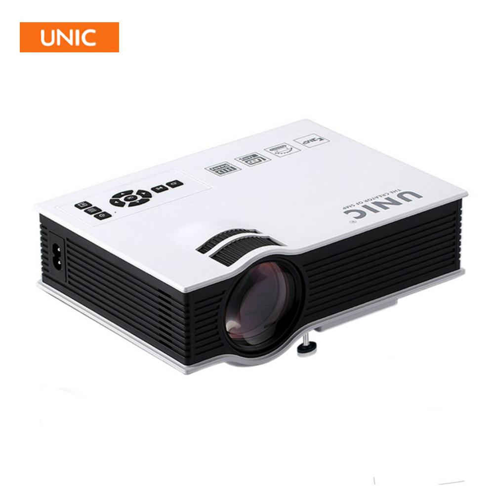 Prix pour D'origine unic uc40 + led projecteur hdmi 800lms 3d mini pico portable home cinéma beamer multimédia proyector full hd 1080 p vidéo