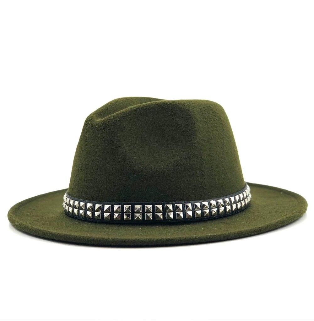 Angemessen Winter Herbst Frauen Männer Damen Wolle Fedoras Top Jazz Hut Europäischen Amerikanischen Runde Caps Bowler Hüte Krankheiten Zu Verhindern Und Zu Heilen