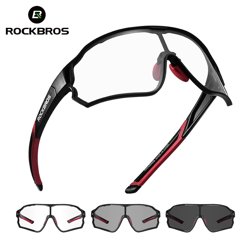 ROCKBROS Photochromic Bike Glasses Bicycle UV400 Sports Sunglasses For Men Women Anti Glare Lightweight Hiking Cycling Glasses