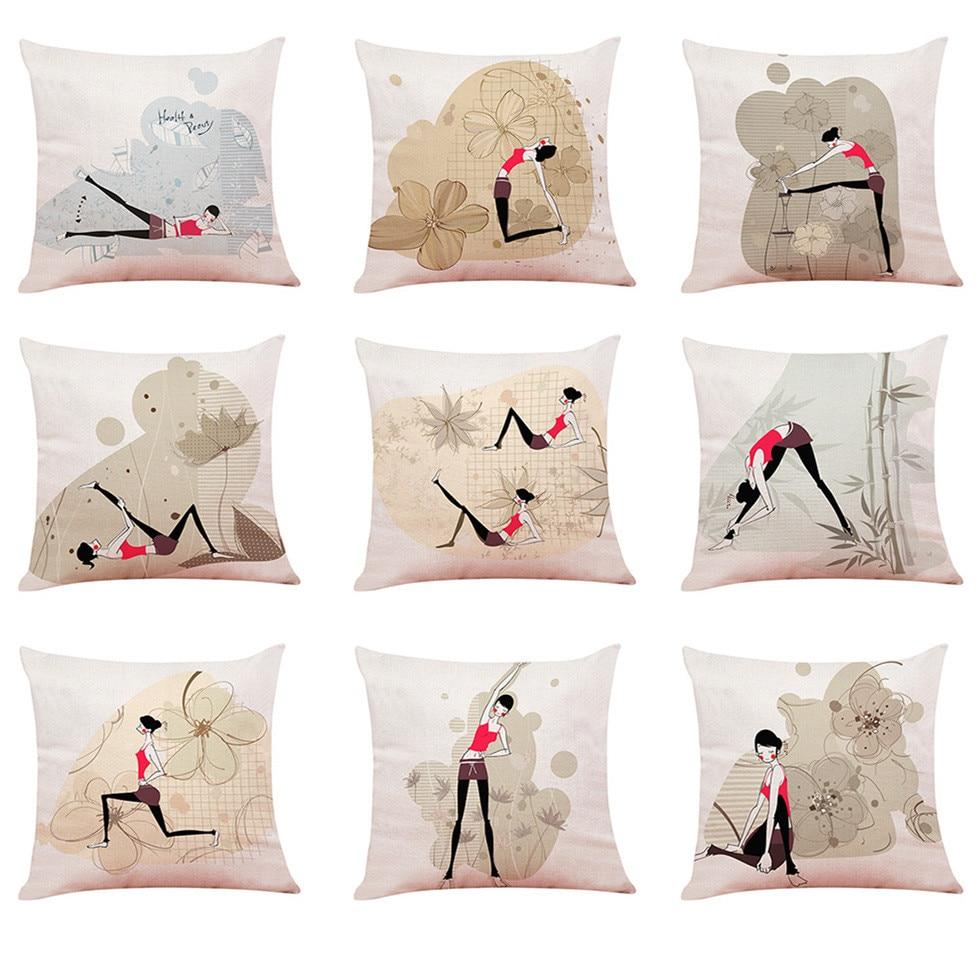 Aliexpress Com Buy Cushion Cover Linen Blend Decorative