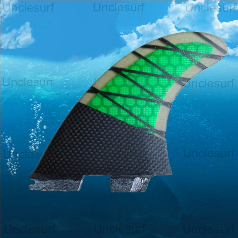 Surf Fin Fcs ii fins Honeycomb Fiberglass Carbon G5 Surfboard fins surfing Green fins 3pcs board quillas surfboard tail pad hot sell surfboard future base with fiberglass carbon material surfing fins