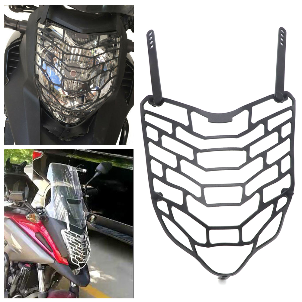 Black/Silver Motorcycle Headlight Guard Cover Protector For <font><b>HONDA</b></font> <font><b>NC</b></font> 750X NC700X NC750X <font><b>NC</b></font> <font><b>700X</b></font> 2012-2018 image