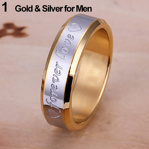 2015 Newest Women Men Forever Love Band Engagement Ring Engraving Couple Promise Metal Plated Stainless Steel Ring ...