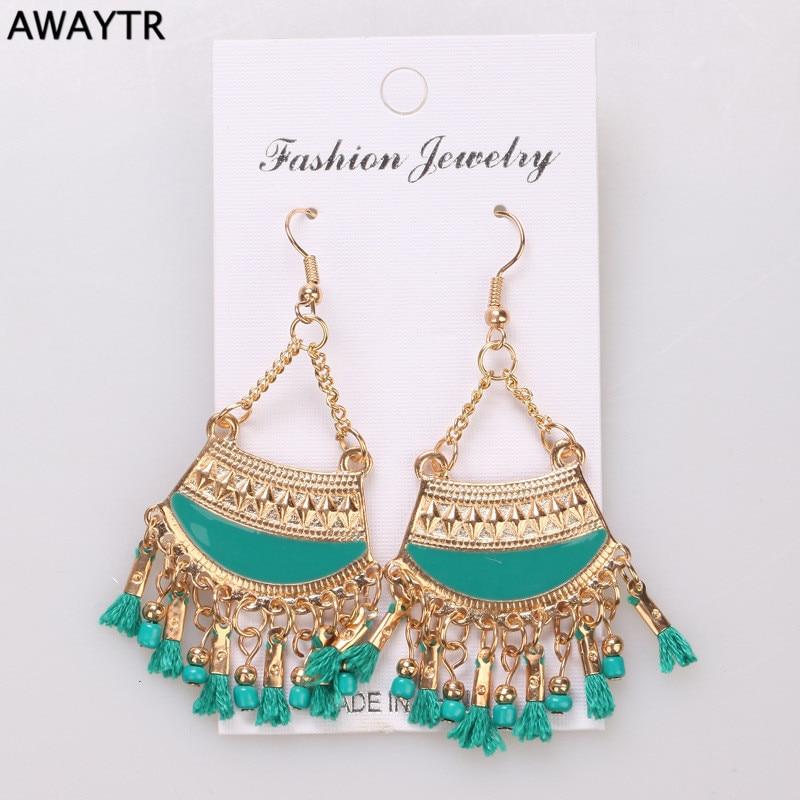 AWAYTR Summer Style Dangle Earring Luxury Big Drop Earrings For Women New Sky Blue Water Drop Statement Earrings For Sale 2016