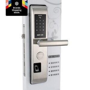 Image 4 - 無線 lan 指紋ドアロック盗難防止ドアロックスマートロックデジタルパスワード rfid アプリによるロック解除、コード、カード、キー