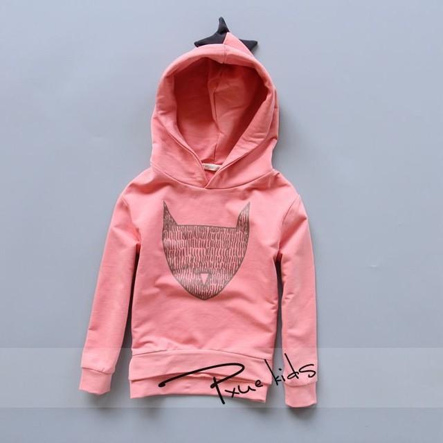 2017 primavera Outono roupa Dos Miúdos meninas das camisolas dos meninos hoodies crianças roupas de algodão encantador Dos Desenhos Animados do dinossauro crianças outwear