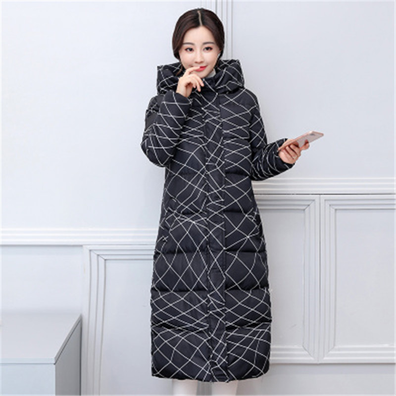 Winter Cotton Jack Women Long Section Thick Korean Version Of The Self-Cultivation Big Size Cotton Clothing Women's Winter Coat