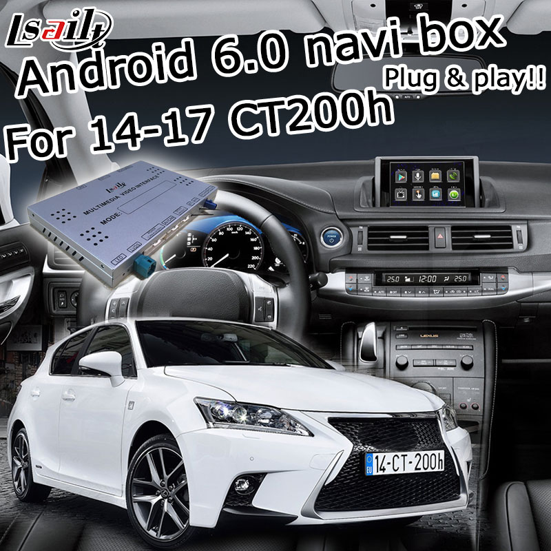 Android 6.0 GPS navigation box for Lexus CT200h 2014-2017 etc video interface with Carplay android auto control waze by LsailtAndroid 6.0 GPS navigation box for Lexus CT200h 2014-2017 etc video interface with Carplay android auto control waze by Lsailt