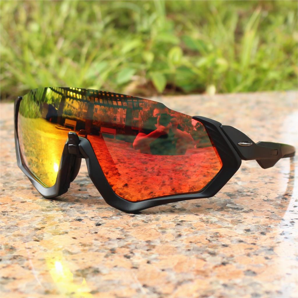 Flight jacket Polarized Cycling Sports Men Sunglasses Road Mountain Bike Bicycle galsses  MTB Riding Running Goggles Eyewear