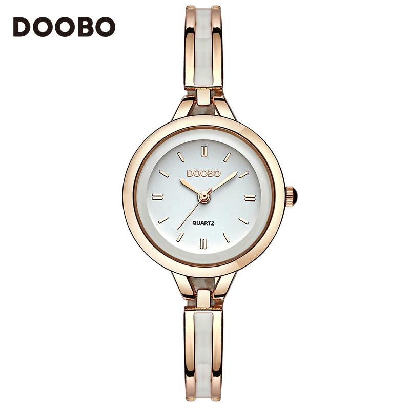 2017 Luxury Women Watch Famous Brands Gold Fashion Design Bracelet Watches Ladies Women Wrist Watches Relogio Femininos DOOBO new luxury women watch famous brand silver fashion design bracelet watches ladies women wrist watches relogio femininos