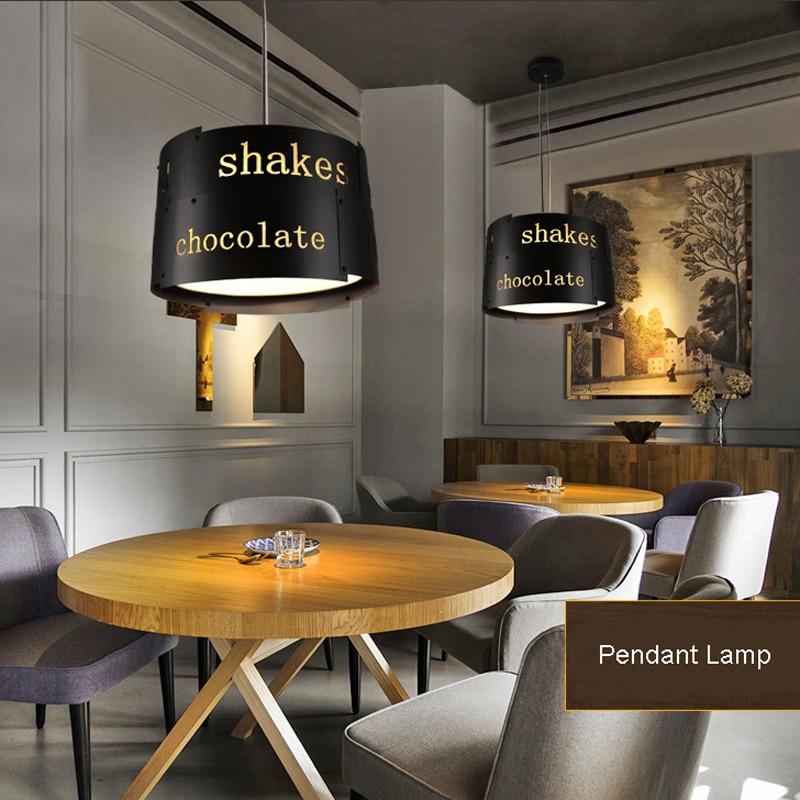 Ретро промышленный Лофт черный металлический подвесной светильник винтажный креативный английский буквенный Бар Кафе подвесной светильник освещение PL628 - 2