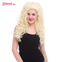 L Email Wig Movie Brave Princess Cosplay Wigs 3 Colors Curly Beige Pink Red Synthetic Hair