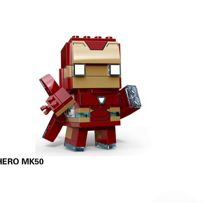 NEW brickheadz Legoinglys Christmas The Avengers Justice League Marvel Super Hero Hulk Thanos Building Block Bricks Toys 5