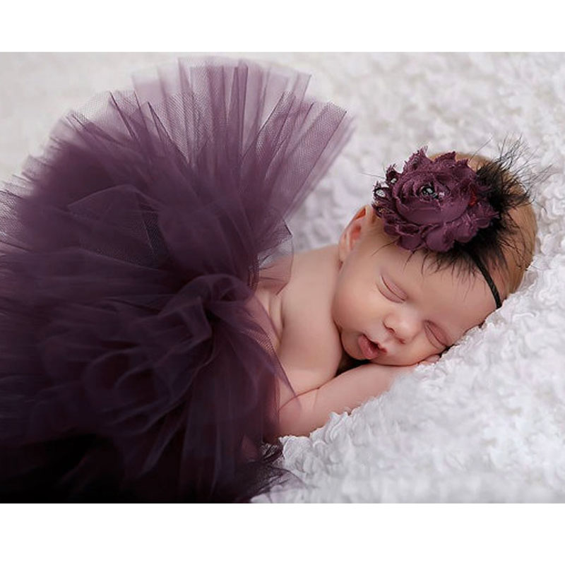 0-4M Newborn Baby Photography Props Peacock Handmade Crochet Beanie Beaded Cap