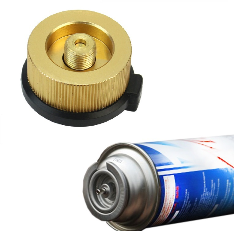 Picnic Burner Cartridge Gas Fuel Canister Stove Cans Adapter Converter HeadR Jq