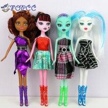 4 färger 22 CM gymnastikmodell mode svart dockor tjejgåva babykomfort leksaker barns leksaker monster moppet