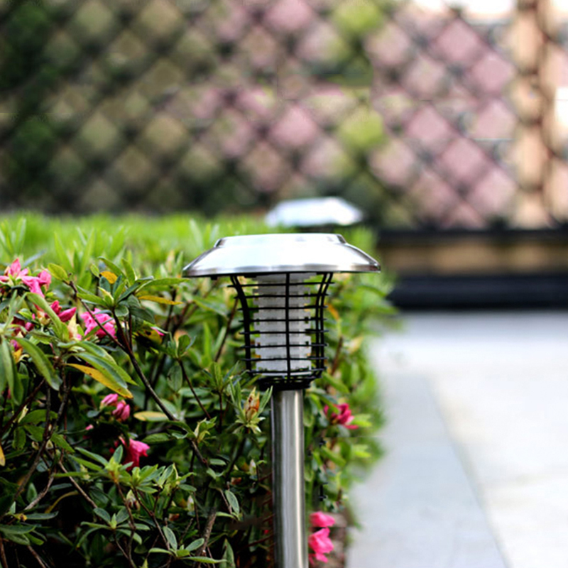 NEW Solar mosquito zapper lights  outdoor waterproof intelligent light control mosquito repellent lamp led electric shock