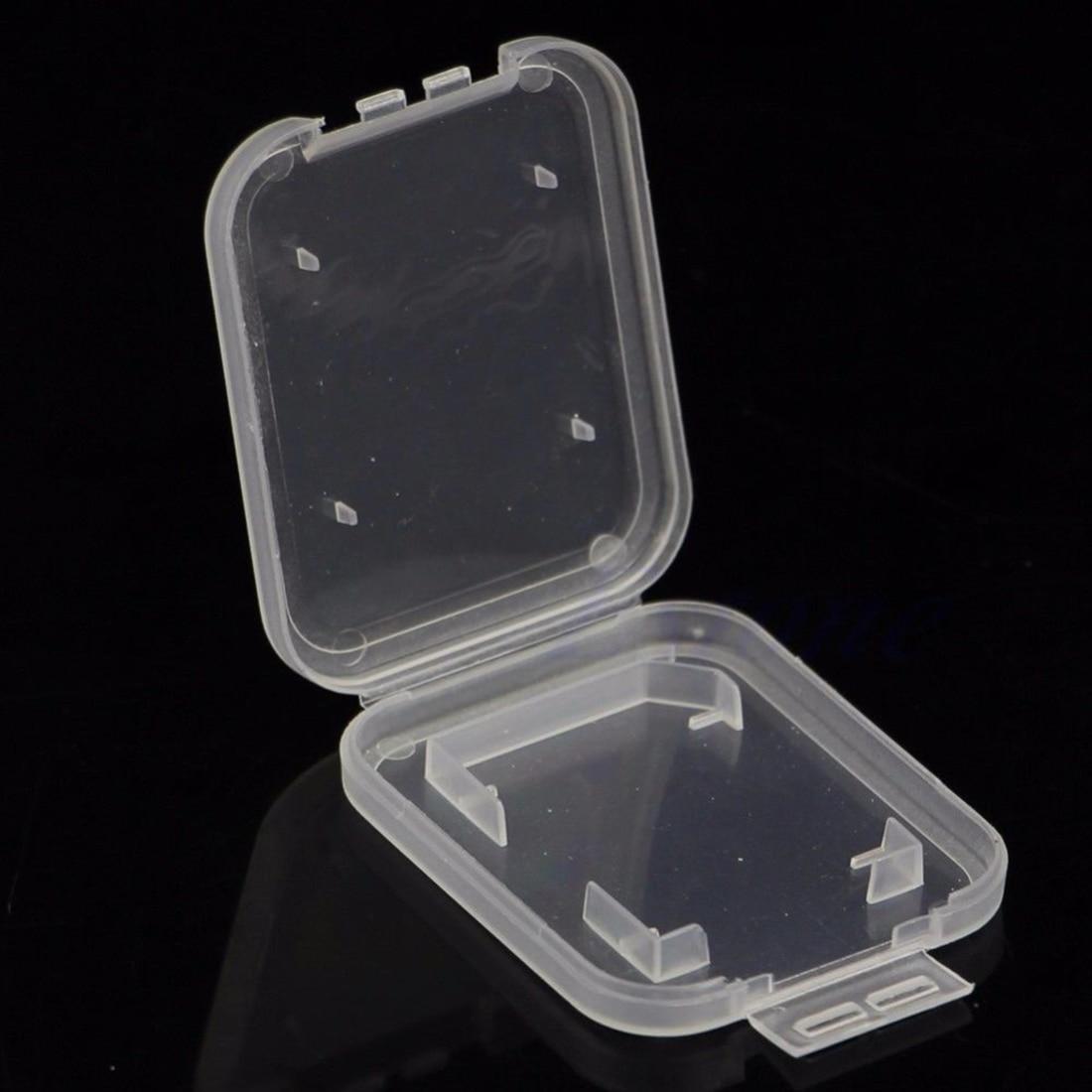 Image 3 - NOYOKERE Новый Лидер продаж 10 шт. SD SDHC держатель защитного кожуха карты памяти прозрачный пластиковый ящик для хранения-in Чехлы для карт памяти from Компьютер и офис