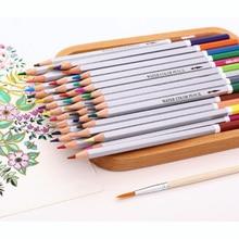 72 kleuren potlood set water kleur wax potloden pennen pastel borstel voor tekening schilderij kleurpotloden kantoor school kunst leveringen Lapices