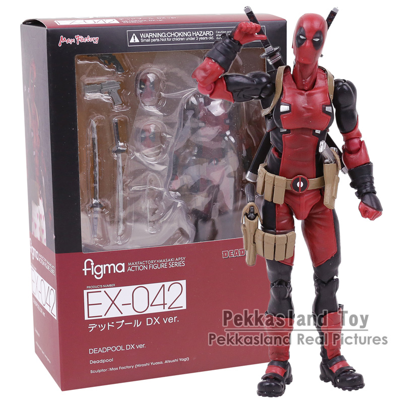 Figma EX-042 Deadpool DX Ver. Limited Edition Action Figure Collectible Model Toy 15CM 14cm super sonico supersonico movable figma figma ex 023 pvc action figure collectible model toy children toy gift with box