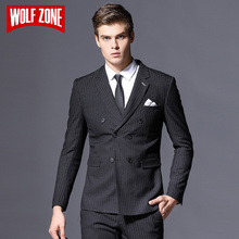 ФОТО new arrival brand mens suit formal business blazer men groom three pieces slim fit party jacket clothing wedding dress pants
