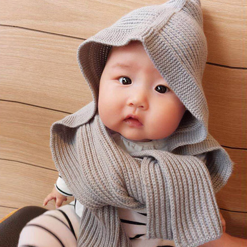 Autumn Winter Baby Hat Beanie Cap Toddler Infant Baby Girls and Boys Knitted Hats+Scarf Kids Caps