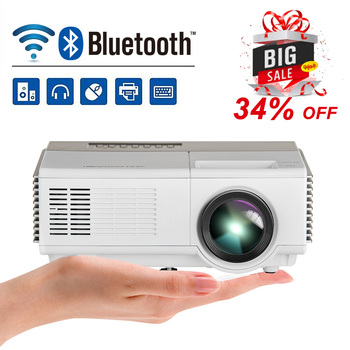 Mini portátil LCD LED Proyector de cine en casa Android WiFi Bluetooth móvil Proyector Full HD Video Beamer HDMI para el teléfono inteligente de la TV