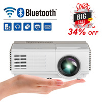 Portable Mini LED LCD Projector Home Cinema Android WiFi Bluetooth Mobile Proyector Full HD Video Beamer HDMI for Smartphone TV