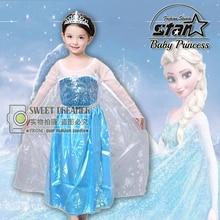 2016 Summer New Children Dresses For Girls Elsa Dress Princess Anna Cosplay Costume Baby Kids Clothing Vestido Infantis