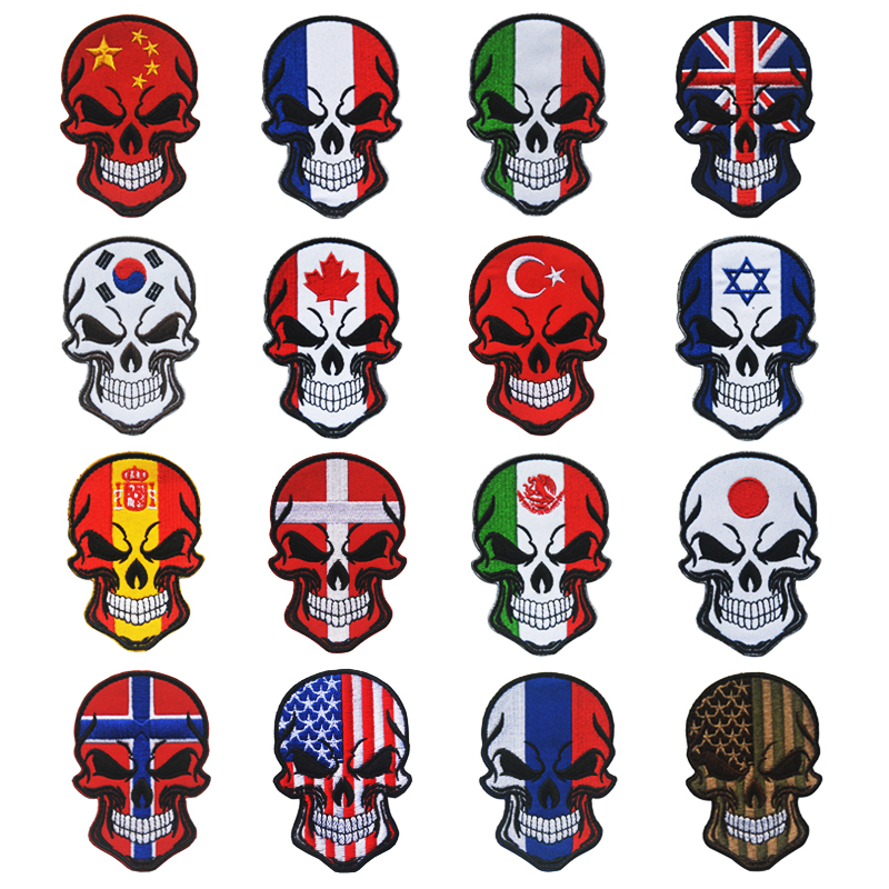 2018 Flag Skull Embroidery Patches DIY Activities