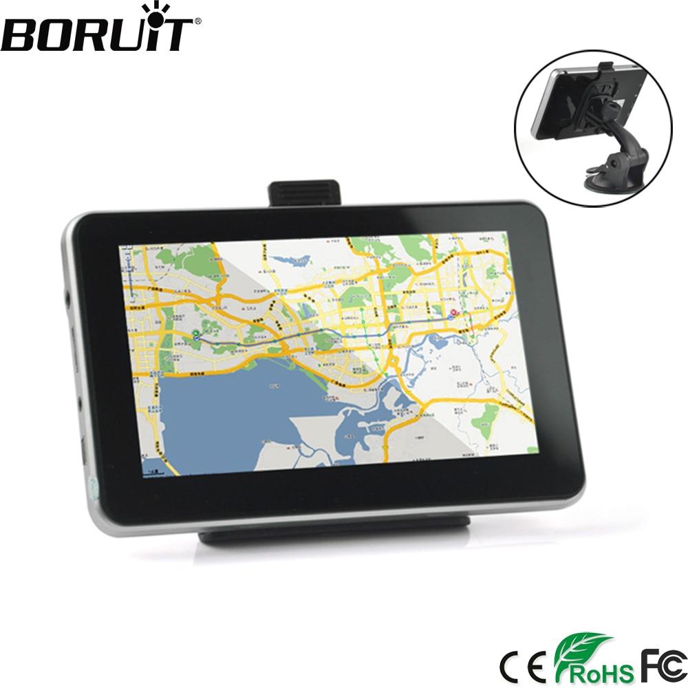 BORUiTR 5 pollice 8 gb HD Auto di Navigazione GPS AVIN Navitel Ultime Europa Mappa Sat Nav Trasmettitore FM Dello Schermo di Tocco camion Navigatori GPS