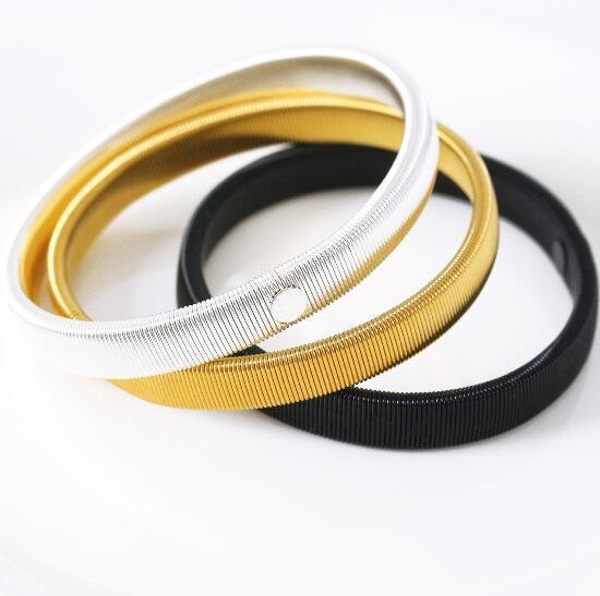 Shirt Sleeve Holder Unisex Elastic Armband Anti slip Metal Armband Stretch Garter Wedding Elasticate Armband Wholesale
