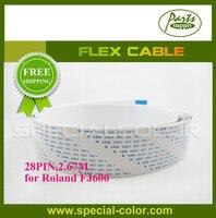 Factory Direct Roland Parts FJ600 Printer Cable Flex Cable Long Data Cable (2.67M) Best Quality