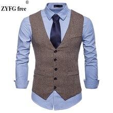 Mens Fashion Design Suit Vest High-quality Goods New Cotton slim fit  Dress vest Business Casual suit vests large size XXL