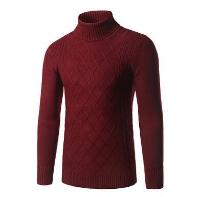 ZHUOFEI 2017 Male Outerwear Jumper Knitted Turtleneck Sweaters Winter Mens Sweaters M-3XL