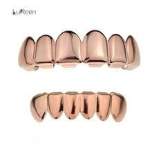 2017 Fashion Women Men Hip-Hop Gold 6-Piece teeth Halloween Teeth Grillz Props