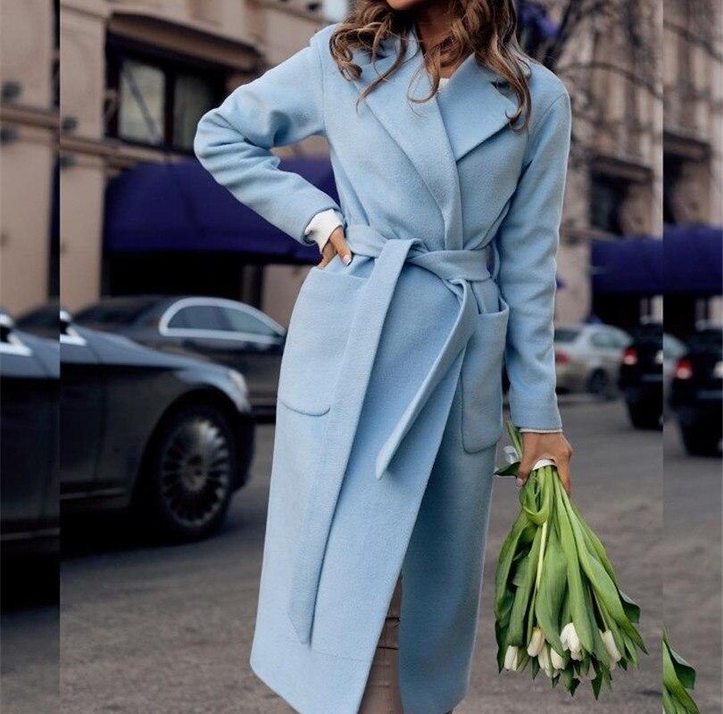Hchenli Brand 2017 Women Large Long Wool Coats Blends Coat Runway Fashion Black Thick Warm Wool